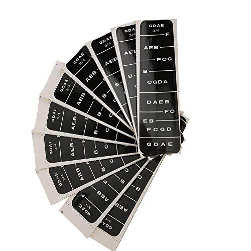 4/4 Violin Sticker 3/4 Violin Sticker Notes Guide, Violin Sticker, Anfänger zum Üben(BC02 3/4 black)