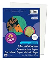 Pacon SunWorks Construction Paper 9-Inches by 12-Inches 50-Count White (9203) [並行輸入品]