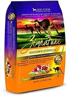 Zignature Kangaroo Dry Dog Food Formula 13.5 lb. Bag, High Protein Formula. Fast Delivery. by Just Jak's Pet Market
