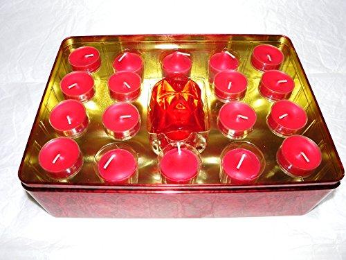"""Geschenkset \"""" Winterbeeren\"""" Partylite Teelichter und Votivkerzen + Kerzenhalter (siehe Produktbeschreibung unten)"""