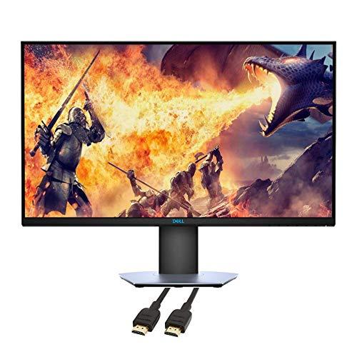 Dell 2020 Premium 27' LED QHD FreeSync Monitor Computer, DisplayPort, HDMI, Black, TMLTT HDMI Cable