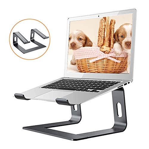 ZDiane Laptop Stand Portable Dismountable Ventilated Laptop Holder, Ventilated Notebook Stand Compatible for Laptop (10~17 Inch) Lenovo, Samsung, Acer, Huawei Matebook, Black