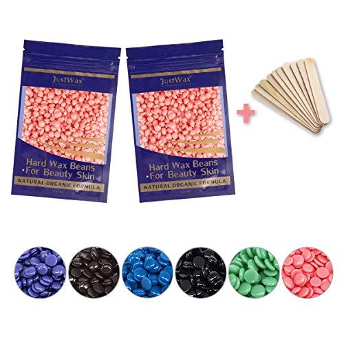 Wachsbohnen -Wachsperlen -Wachs Haarentfernung -Hard Wax Beans -Waxing Perlen -Wax Perlen -Wax Haarentfernung -Wax Beads -Enthaarungswachs Niedrigtemperatur ohne Vliesstreife 200g (Rosa)