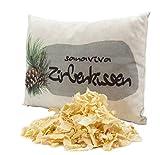sanaviva Zirbenkissen - Schlafkissen Zirbe (18x26cm, 100% ig reines Naturprodukt, Kissen gefüllt...