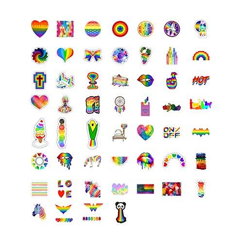 Allegorly LGBT Gay Pride Temporäre Tattoos Regenbogen Streifen Aufkleber für LGBTQ Ride Tattoos für Stolz Paraden und Feiern LGBT Regenbogen Flagge