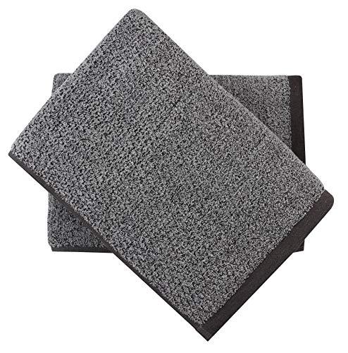 Everplush Diamond Jacquard Bath Towel Set, 2 Pack (30 x 56), Grey 2 Count