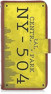 LG V20 PRO L-01J 用 手帳型 カードタイプ スマホケース ナンバープレート・セントラルパーク CentralPark ビンテージ USA アメリカン エルジー ブイトゥエンティ プロ docomo スマホカバー 携帯ケース スタ...