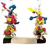 Juguetes para Pajaros, Juguetes para Columpios de Pájaros,Juguetes para Pájaros Colorful Columpio para Loros Accesorios Jaula Pajaros Bite Toy,Columpios para Pájaros Loros Hamacas para Pájaros