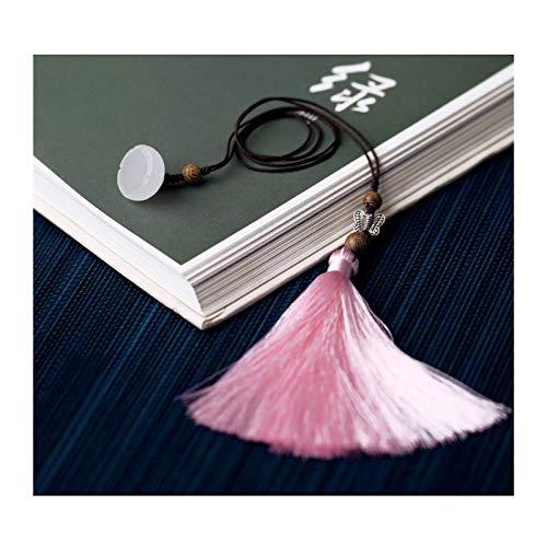 OMING Lesezeichen Kleine Frische und Klassik Lesezeichen, Lesezeichen mit weißen Porzellan-Anhängern, ist EIN einzigartiges Geschenk for Lehrer, Studenten Vintage Lesezeichen (Color : D)