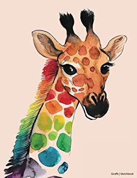 Giraffe Sketchbook  Cute Sketchbook Blank Book Drawing Pad Large Sketchbook and Unlined Notebook - 120 pages -  Gifts for Kids   Gifts for Adults   Sketchbooks for Kids and Adults