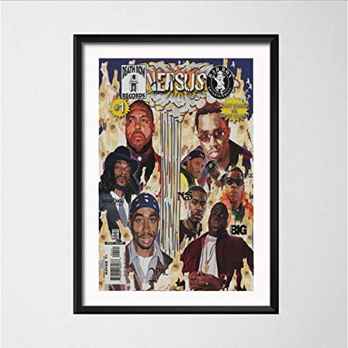 Hip Hop Rindfleisch Old School Gangsta Rap 2Pac Gross NAS Snoop Dogg Kunst Malerei Seide Leinwand Poster Wand Wohnkultur 50 * 70Cm No Frame