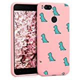 ZhuoFan Xiaomi Mi A1 Case, Phone Cases Pink Liquid Silicone