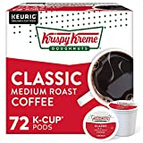 Krispy Kreme Classic, Single-Serve Keurig K-Cup Pods, Medium Roast Coffee, 12 Count (Pack of 6)