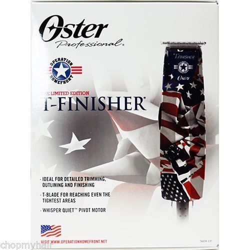 Oster Limited Edition T-Finisher Operation Home Front Trimmer Professional Salon American Flag