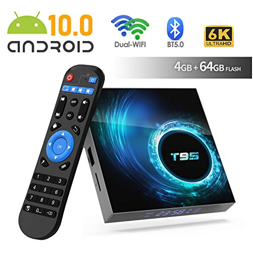 Android 10.0 TV Box T95 4 GB RAM 64 ROM Allwinner H616 64-Bit Android Box mit 2,4 G / 5 G Dual WiFi 10 / 100M Ethernet, Unterstützung H.265 / 3D / 6K Ultra HD / BT 5.0 / HDMI 2.0 Smart TV Box