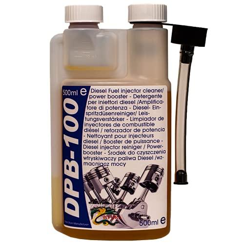 HYDRA DPB-100 Diesel Power Blast Fuel limpiador de inyectores diesel para un inyector diesel más limpio adecuado para todo tipo de motor diesel aditivo ideal para limpiar diesel 500ml tratan 500L