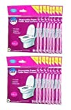 GoHygiene! Travel Essential - Disposable Paper Toilet Seat Covers - 18 Packs (180pcs) + 2 Free...