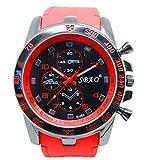 Men Wrist Watch - SBAO Stainless Steel Luxury Sport Analog Quartz Modern Men Fashion Wrist Watch Red