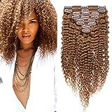 8'(20cm) SEGO Afro Kinky Curly Clip in Extensiones de Clip d