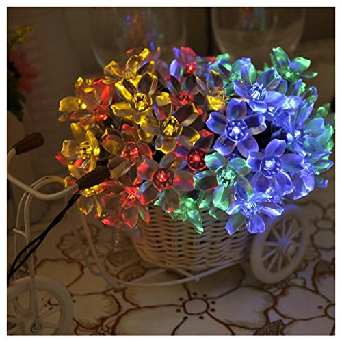 N / A Solar Colorful Garden Light Peach Blossom Light Outdoor Waterproof 5m / 20LED, Used for Garden Lawn and Courtyard Passage Decoration