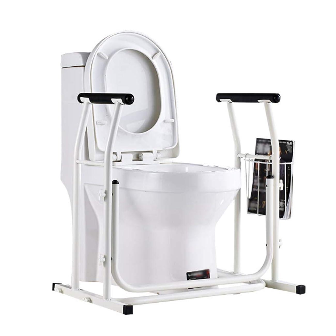 シンボルダルセット許容トイレ用手すり 高齢者&障害者のための理想のトイレの安全フレーム、スチール便器安全フレーム、ハンドル、トイレ鉄道グラブバー、