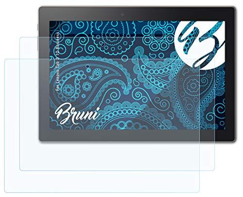 Bruni Schutzfolie kompatibel mit Lenovo Tab 3 10 Business Folie, glasklare Bildschirmschutzfolie (2X)