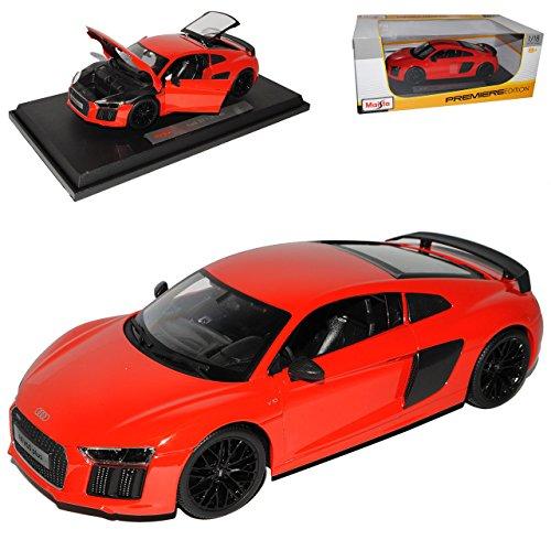 Maisto A-U-D-I R8 V10 Plus Coupe Rot neuestes Modell 2. Generation ab 2015 1/18 Modell Auto