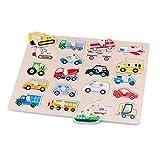 New Classic Toys 10536 Puzzle 18 Pieza(s) - Rompecabezas (Contour Puzzle, Vehículos, Niños, Niño, 2 año(s), Interior)