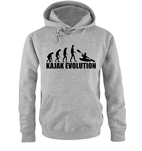 Comedy Shirts KAJAK Evolution Sweat à capuche pour homme - Gris - S