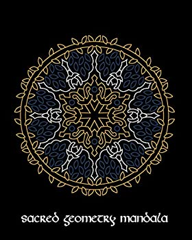 Sacred Geometry Mandala  Electric Charged Mandala Art Journal Cover  Cornell Lined Notebook  Geometric Design for Yoga Meditation  Dream Diary or Notes for Work or School.