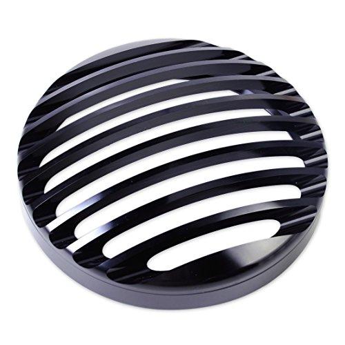 Eastar Couvercle de Gril de Phare en Aluminium Noir