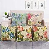 Uymkjv Cojín Set Five Piezas de Sofa Pan Rell Pattern Sofa Pat Stat Pattern Pattern 45x45cm