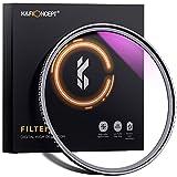 K&F Concept MCUVフィルター 62mm 保護フィルター 紫外線カット 光学ガラス 多層加工 薄枠 99% 透過率