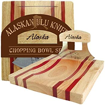 Alaska Ulu Knife and Chopping Bowl Set
