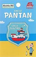いろはism UNCLE PANTAN ワッペン 1枚入 船 GC350-GC13