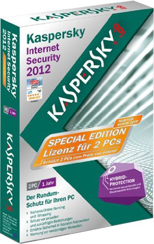 Kaspersky internet security 2012 (2 postes, 1 an) - special edition[import allemand]