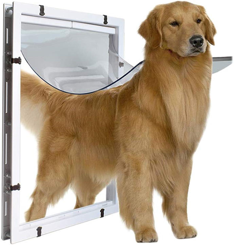 MOIMK Pet Window Screen Door, Big Dog Door Super Large Pet Door The golden Collie redtweiler The Large Dog Enters And Exits The Door Hole White