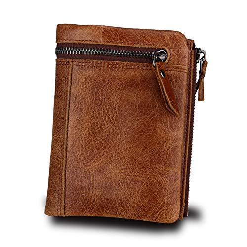 NSQBTM Brieftasche Echte Männer Geldbörsen Münzfach Reißverschluss Aus Echtem Leder Geldbörse Mit Geldbörse Hochwertige Männliche Geldbörse
