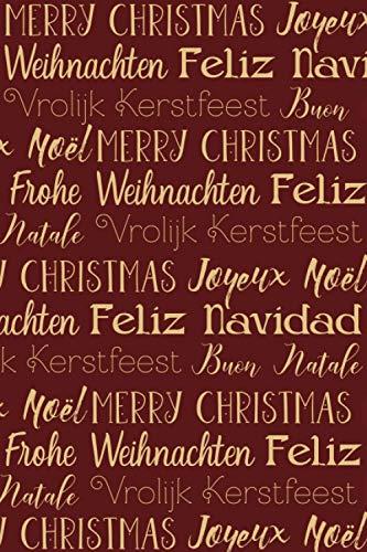 Notizbuch Frohe Weinachten, gepunktet, 120 Seiten: DIN A5 | Merry Christmas | in Gold, Rot | ideal als Weihnachtsgeschenk z.B. für Eltern | Notizen, To Dos, Geschenke, Wunschlisten, Geschenke-Planer