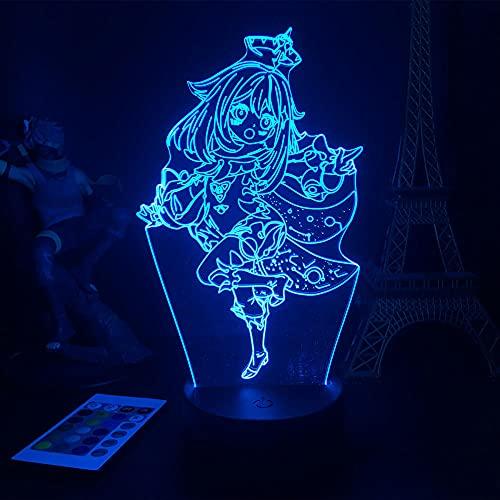 Lámpara de ilusión 3D Mood Led Luz de noche Genshin Impact Illusor Juego caliente para decoración de dormitorio Atmósfera para niños-Attack On Titan 10_Con control remoto