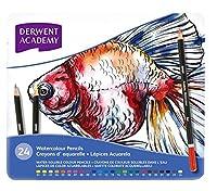 ダーウェント アカデミー 水彩 色鉛筆 ウォーターカラーペンシル メタルケース 24色セット [並行輸入品]