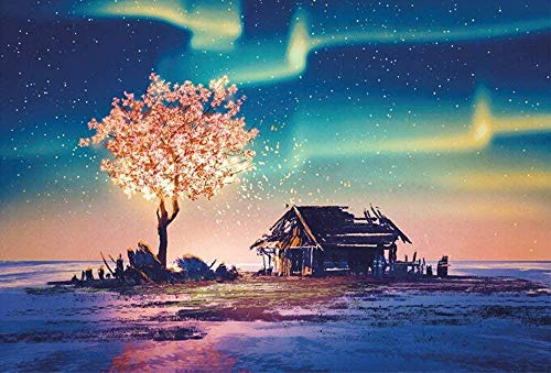1000Pc Jigsaw Puzzle Adult Jigsaw Puzzles Pink Cherry Blossom Painting Is...