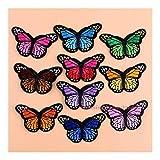 shiy Parches Parche de la Mariposa Cosido Bordado de la Mariposa de Hierro Parche Apliques Ropa Etiqueta Ropa de Bricolaje Plancha en Parches para Ropa (Color : Style 4)