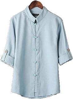Axpdefi Ropa de Tai Chi, Ropa China Traje Tang, Blusa de Hombre, Camisa de Kung Fu de Estilo Chino clásico para Hombre Top...