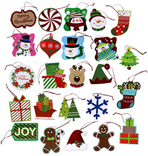 120-Count Christmas Tie-On Gift Tags (24 Designs)
