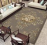 Alfombra Clásico Tradicional Sala Dormitorio Pasillo Alfombras,relación Calidad-Precio,Muy Recomendable,más Delgadas de lo esperado,120 x180 cm Patrón de Rama de Flor nórdica