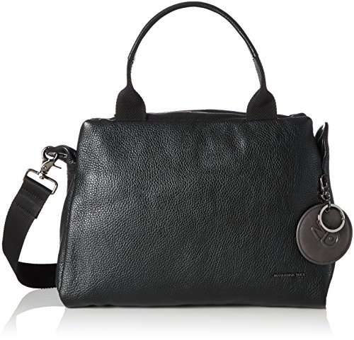 Mandarina Duck Damen Mellow Leather Tracolla Schultertasche, Schwarz (Nero), One Size