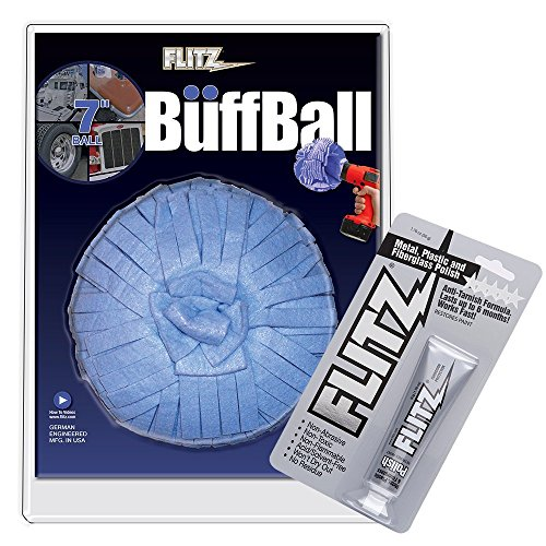 Flitz Buff 'N Wax Ball Combo + Bonus 50g Metal Polish, Blister Pack