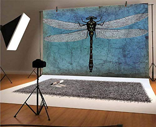 Fondo de vinilo para fotógrafos de Dragonfly de 10 x 6.5 pies,...