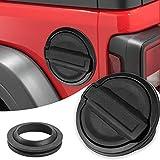 Gas Cap Fuel Door Gas Tank Cover for Jeep Wrangler JL 2-Door 4-Door 2018 2019 2020